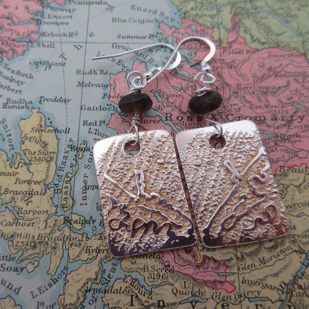 Silver Storr Earrings by by Indigo Berry Jewellery from the Isle of Skye in Scotland