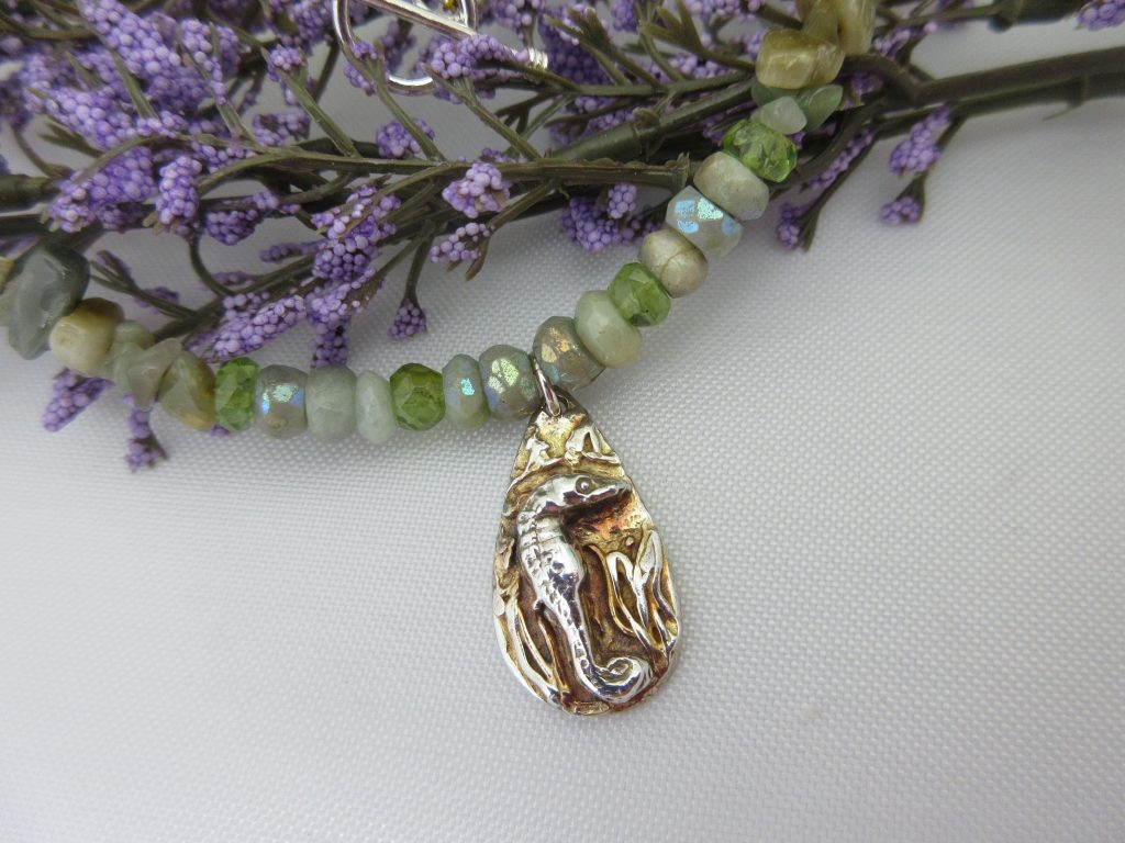 Seahorse pendant by Indigo Berry Jewellery from the Isle of Skye in Scotland