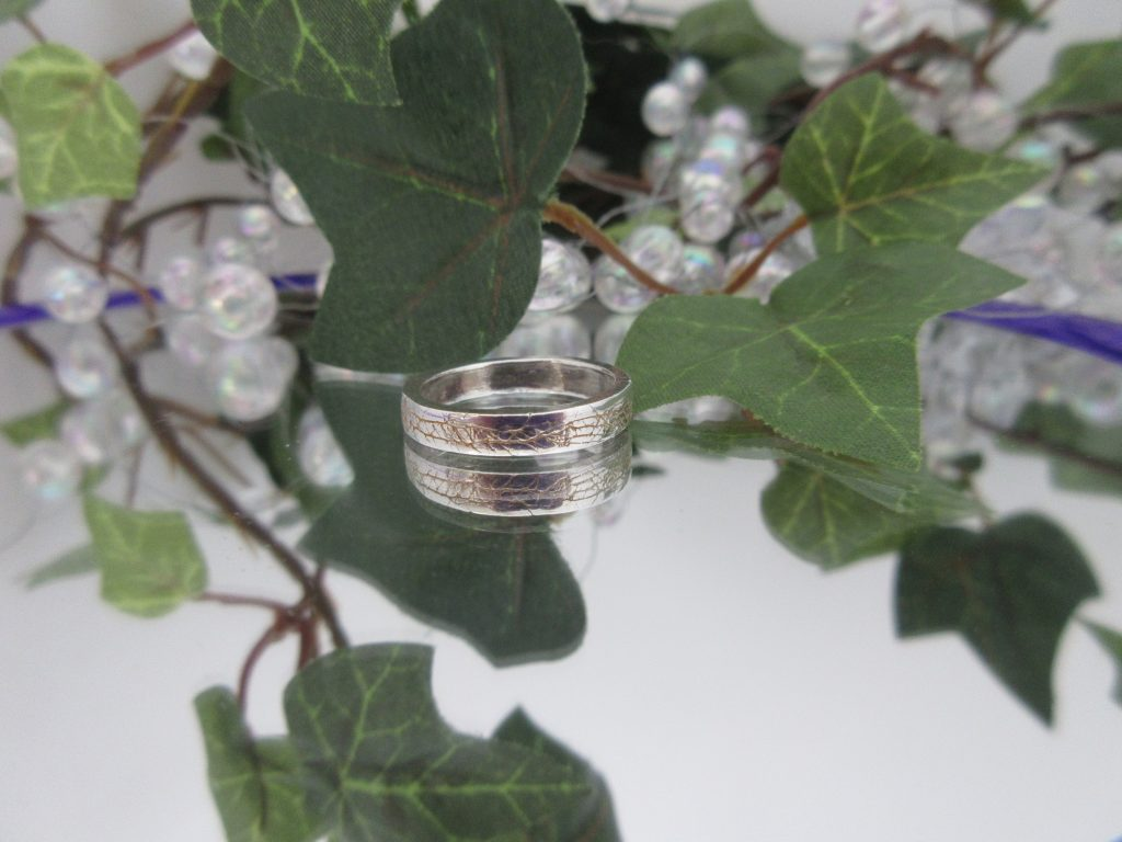 Textured ring by Indigo Berry Jewellery from the Isle of Skye in Scotland