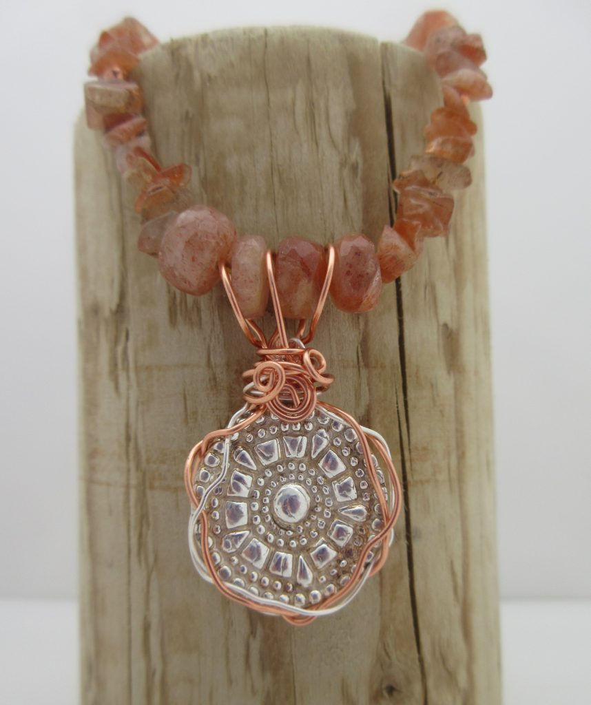 Silver Sunstone Pendant by Indigo Berry Jewellery from the Isle of Skye in Scotland