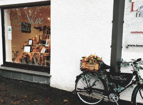 Love from Skye shop with bicycle outside