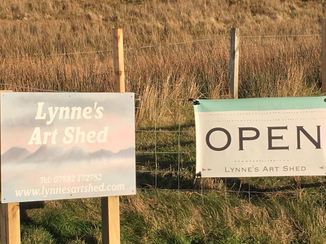 Lynne's art shed on Skye