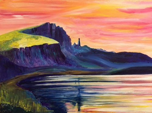 Old Man of Storr painting by Sherryl Todd