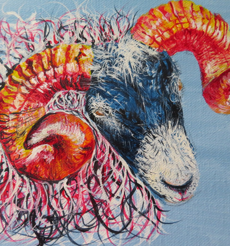 Ram painting by Sherryl Todd artist