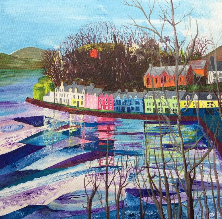 Painting of Portree by Sherryl Todd