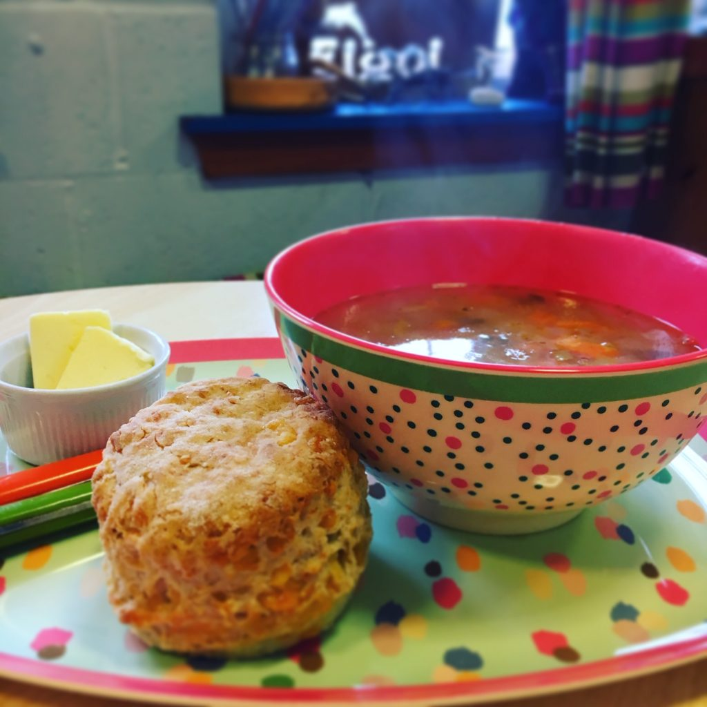 Soup and scones at the Elgol Shop