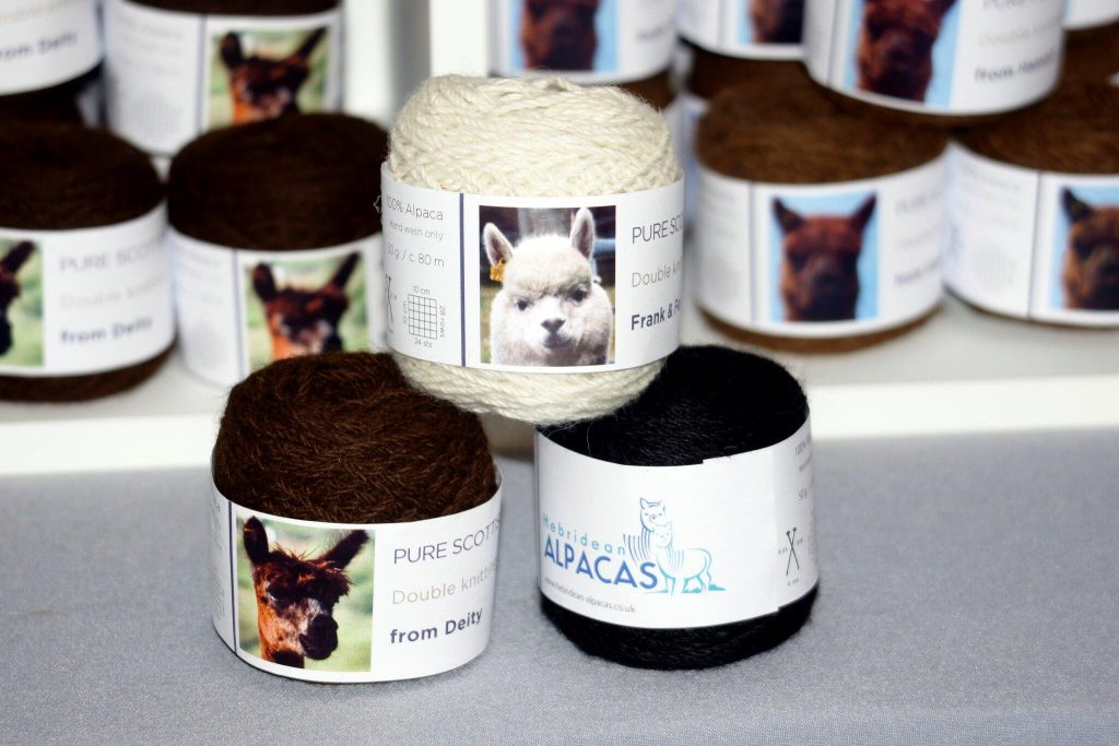 Yarn from the Hebridean Alapaca Company